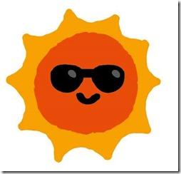太陽がサングラスをかけている