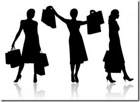 女性ショッピングシルエット