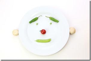 野菜で作った顔
