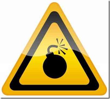 爆弾の標識