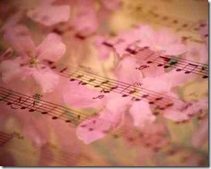 花びらの上の五線譜