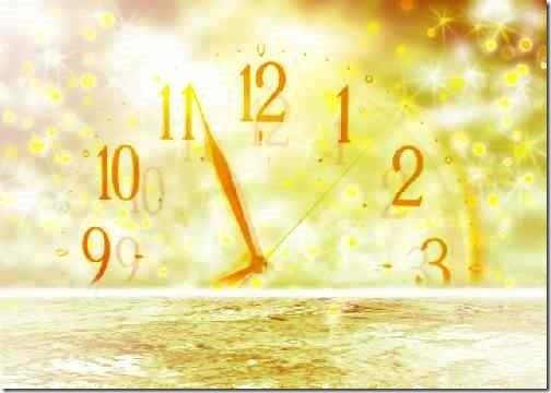 海に沈む時計