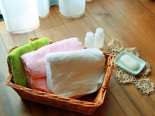 タオルとせっけんと化粧水