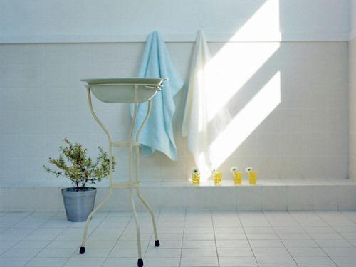 バスタオルと洗面器