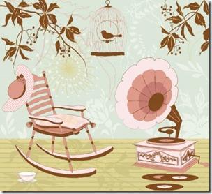蓄音機と椅子